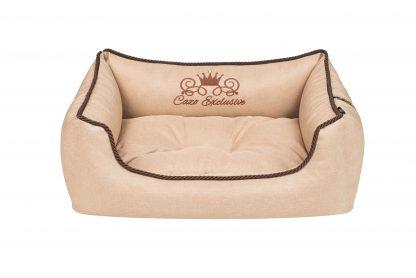 Pelech pre psa Cazo Exclusive kolekcia Royal capuchino, je pelech pre odvážnych milovníkov domácich maznáčikov, zároveň spĺňavšetky náročné kritéria potrebné pre pohodlie vášho domáceho maznáčika, ktorými sú kvalita, komfort, moderný dizajn, originalita a jednoduchosť v údržbe. Dvojfarebný vankúš : béžový