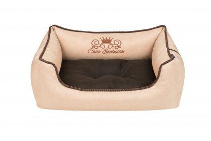 Pelech pre psa Cazo Exclusive kolekcia Royal capuchino, je pelech pre odvážnych milovníkov domácich maznáčikov, zároveň spĺňavšetky náročné kritéria potrebné pre pohodlie vášho domáceho maznáčika, ktorými sú kvalita, komfort, moderný dizajn, originalita a jednoduchosť v údržbe. Dvojfarebný vankúš matraca : hnedý