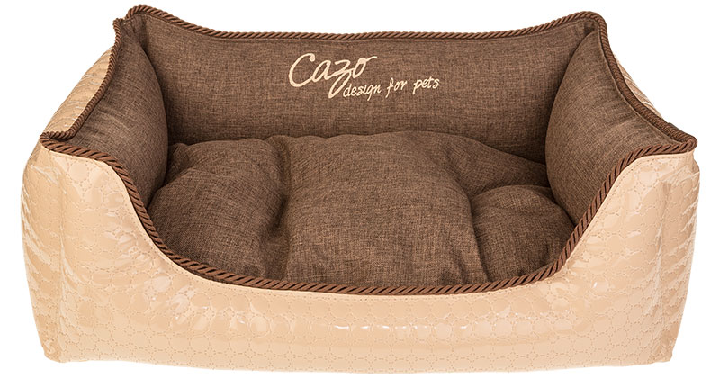 Pelech Cazo Diamond béžový, je pelech pre odvážnych milovníkov domácich maznáčikov, zároveň spĺňa všetky náročné kritéria potrebné pre pohodlie vášho domáceho maznáčika, ktorými sú kvalita, komfort, moderný dizajn, originalita a jednoduchosť v údržbe.