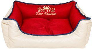 Pelech Cazo Exclusive kolekcia Royal béžová červená a modrá, je pelech pre odvážnych milovníkov domácich maznáčikov, zároveň spĺňavšetky náročné kritéria potrebné pre pohodlie vášho domáceho maznáčika, ktorými sú kvalita, komfort, moderný dizajn, originalita a jednoduchosť v údržbe.