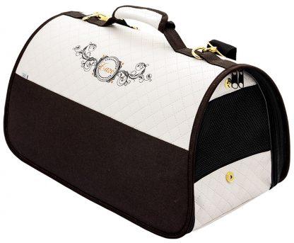 Transportná taška Cazo Exclusive bielo-hnedá spĺňavšetky náročné kritéria potrebné pre pohodlie pri transporte vášho domáceho maznáčika, ktorými sú bezpečnosť, kvalita, prievzdušnosť, komfort, moderný dizajn, originalita a jednoduchosť v údržbe.