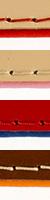 Kožený obojok - červený a béžový 1