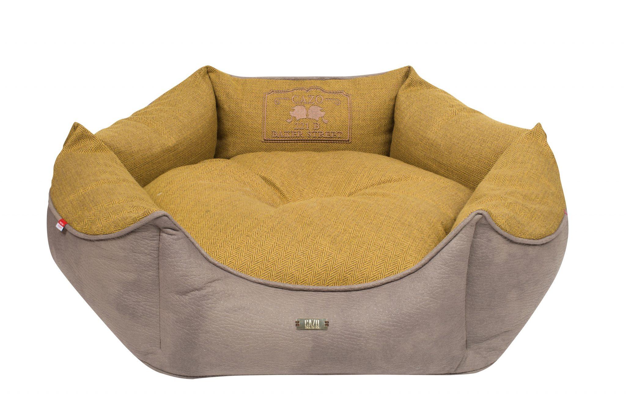 Pelech Cazo Baker street King žltý je pohodlný a kvalitný pelech pre psa alebo mačku. Moderný dizajn, komfort, kvalitné spracovanie materiálov a jednoduchá údržba.