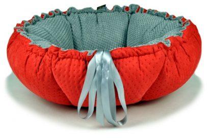 pelech pre psa - pelechyprepsy-lauren-design fialovy cerveny