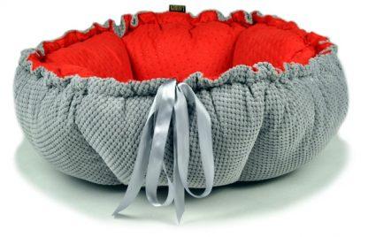 pelech pre psa - pelechyprepsy-lauren-design fialovy cerveny opak