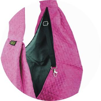 Prenosná taška pre psa Lilly - ružová (otvor)