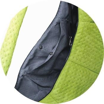 Prenosná taška pre psa Lilly - zelená (otvor)