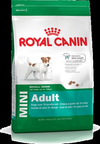 Royal Canin Mini Adult 8 kg. Kompletné krmivo pre dospelých psov malých plemien od 10 mesiacov do 8 rokov, v dospelosti dosahujúcich hmotnosť do 10 kg. Druh mäsa: mäsová zmes Vek psa: dospelý Vhodné pre plemená: malé plemená Kvalita : prémiové kód: RCM MA8