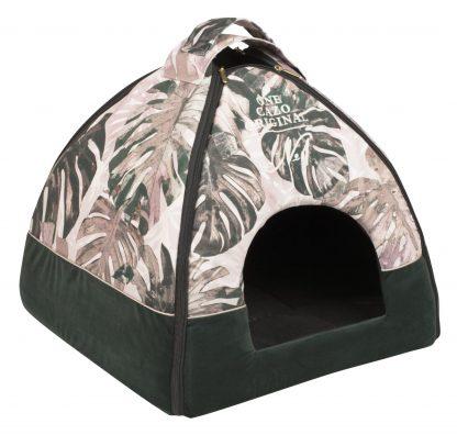 Domček pre psa Original one zelený, spĺňavšetky náročné kritéria potrebné pre pohodlie vášho domáceho maznáčika, ktorými sú kvalita, komfort, moderný dizajn, originalita a jednoduchosť v údržbe. Vhodný domček pre psíka menšieho plemena ale mačku. Uni - veľkosť LCRG0601: 47 v x 46 x 40 cm