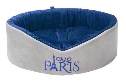 Pelech pre psa Cazo Paris King modrý s praktickým a snímateľným poťahom je vyrobený z materiálu odolného proti poškodeniu od pazúrikov psíkov. Jednoduchá údržba napomôže udržiavať pelech a hlavne váš interiérv čistote.Pelech tvorí jedinečnú izoláciu proti chladu z podlahy a zároveň zaisťuje jeho dostatočnú priedušnosť. Dostupný je v trochveľkostiach: S - veľkosť LFRN0301/A: 44 х 38 cm M - veľkosť LFRN0301/B: 50 х 46 cm