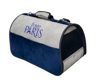Transportná taška Paris modrá, je vhodná na transport vášho psa alebo mačky do hmotnosti 5 kg. Spĺňavšetky náročné kritéria potrebné pre pohodlie pri transporte vášho domáceho maznáčika, ktorými sú bezpečnosť, kvalita, vzdušnosť, komfort, moderný dizajn, originalita a jednoduchosť v údržbe. Transportná taška je dostupná uni veľkosti: Rozmery : LFRN0901 : 50 x 27 x 26 cm