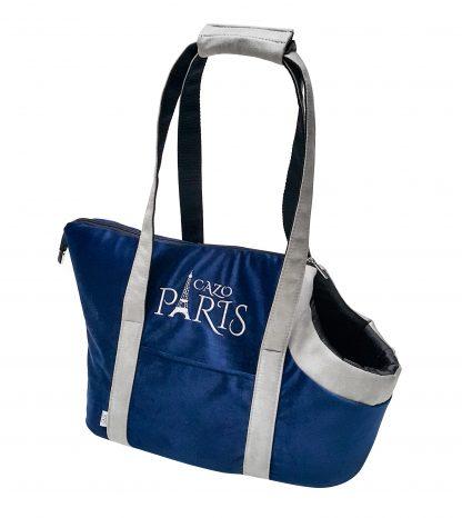 Taška pre psaParis modrájeinšpirovaná francúzskym dizajnom a motívom Eiffelova veža. Veľmi ľahká a praktická taška, ktorá Vám prakticky poslúži pri bežných nákupoch alebo preprave na kratšie vzdialenosti. Vhodná pre psíka menšieho plemena Rozmer : LFRN1001 :30x40x24cm