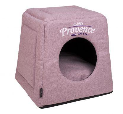Domček pre psa Provence levanduľa je pohodlný a útulný domček, určený pre vášho domáceho maznáčika, v ktorom sa bude cítiť výnimočne. Zároveň slúži ako výborný dizajnový doplnok pre vybavenie vášho interiéru. Dostupný aj vo farebnom prevedení modrá a sivá. Dostupný je v uvedenej veľkosti: Uni - veľkosť LPVL0801: 40 v x 40 x 38 cm