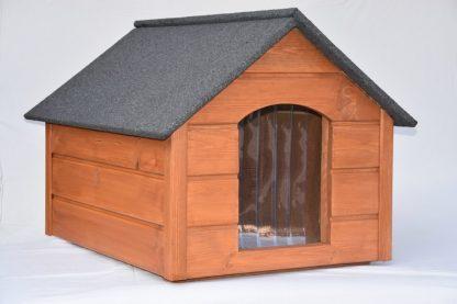 Drevená búda pre psa veľkosť L zateplená, sa zasiela kompletne zložená, vhodná pre plemena do výšky max.40 cm v kohútiku, nie je vhodná napr. pre plemená labrador, nemecký ovčiak a pod. Rozmery drevenej búdy veľkosť L: Veľkosť psa: stredný pes Materiál: Drevo Vonkajšia dĺžka (cm): 82 cm Vonkajšia šírka (cm): 63 cm Vonkajšia výška (cm): 63 cm Vnútorná šírka (cm): 50 cm Vnútorná dĺžka (cm): 70 cm Vnútorná výška (cm): 55 cm Vstupná výška (cm): 32 cm Vstupná šírka (cm): 25 cm Váha búdy (s balením): 31 kg Typ: drevená izolovaná búda, so sedlovou strechou.
