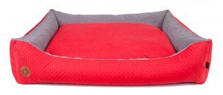 Pelech pre psa Lauren CEZAR | červená. Kvalitný pelech, jednoduchá údržba, možnosť prať v automatickej práčke, 3 dostupné veľkosti, 8 farebných variácií.